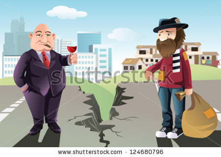 stock-vector-a-vector-illustration-of-a-concept-of-the-gap-between-the-rich-and-the-poor-124680796